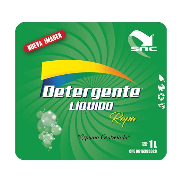 Detergente etiqueta
